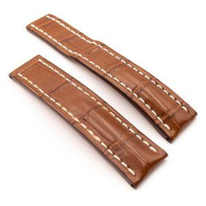 BREITLING Brown CrocoLeather Strap, 22-20, 738P